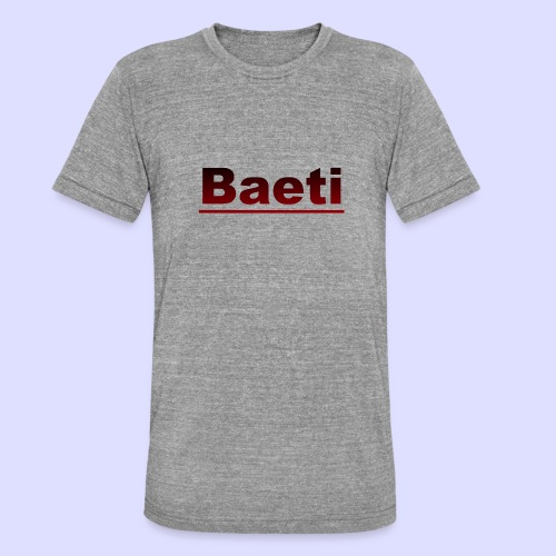 Baeti - Unisex tri-blend T-shirt van Bella + Canvas