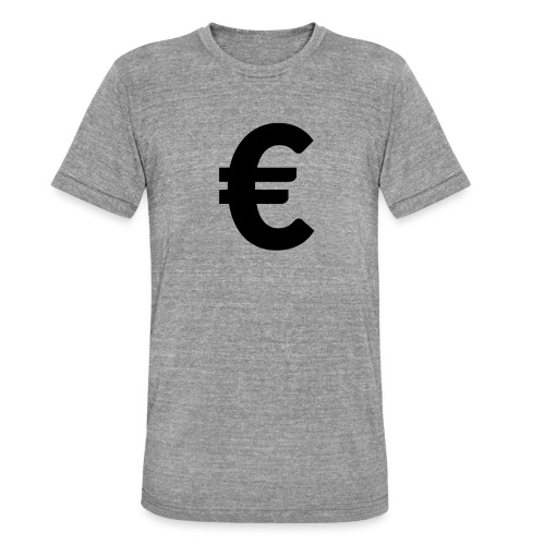 EuroBlack - T-shirt chiné Bella + Canvas Unisexe