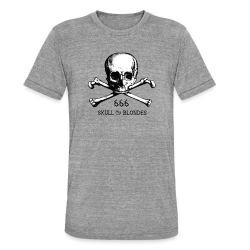 skull & blondes (black) - Unisex Tri-Blend T-Shirt von Bella + Canvas