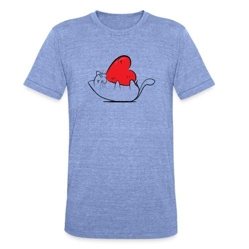 Cat Love - Unisex tri-blend T-shirt van Bella + Canvas