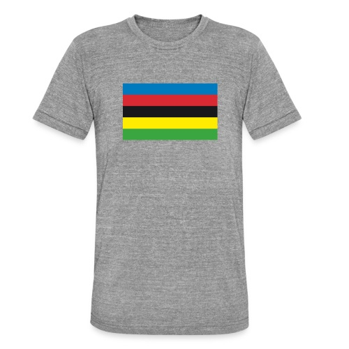 Cycling_World_Champion_Rainbow_Stripes-png - Unisex tri-blend T-shirt van Bella + Canvas