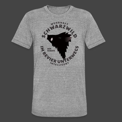 Schwarzwild im Revier-Shirt für Sauenjäger - Unisex Tri-Blend T-Shirt von Bella + Canvas