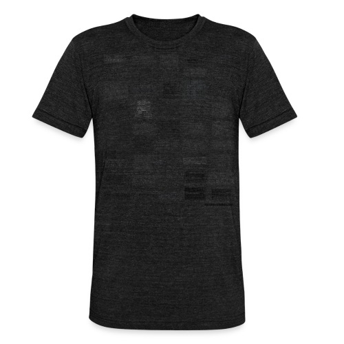 Synth Evolution T-shirt - White - Unisex Tri-Blend T-Shirt by Bella & Canvas