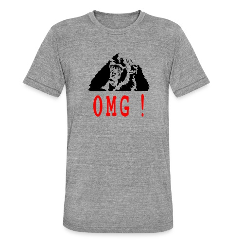 OMG monkey - T-shirt chiné Bella + Canvas Unisexe