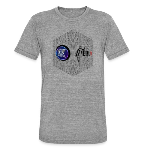disen o dos canales cubo binario logos delante - Unisex Tri-Blend T-Shirt by Bella & Canvas
