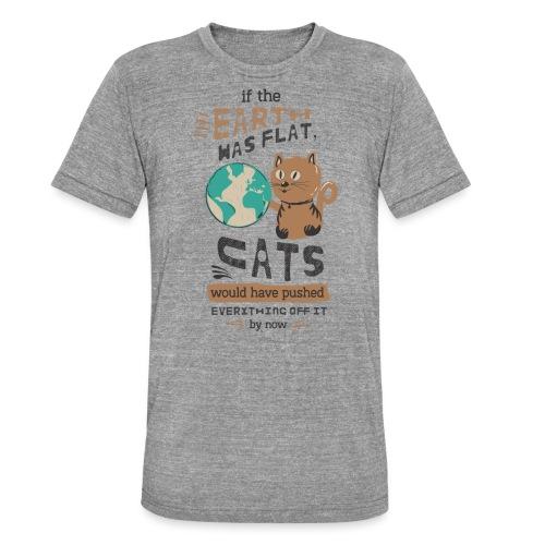 IF THE EARTH WAS FLAT - Unisex tri-blend T-skjorte fra Bella + Canvas