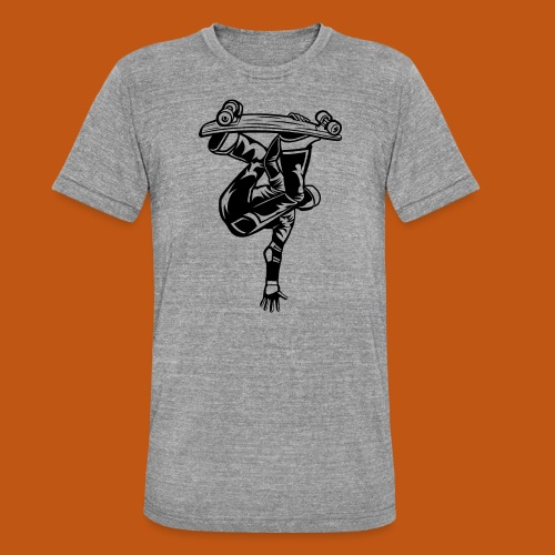 Skater / Skateboarder 03_schwarz - Unisex Tri-Blend T-Shirt von Bella + Canvas