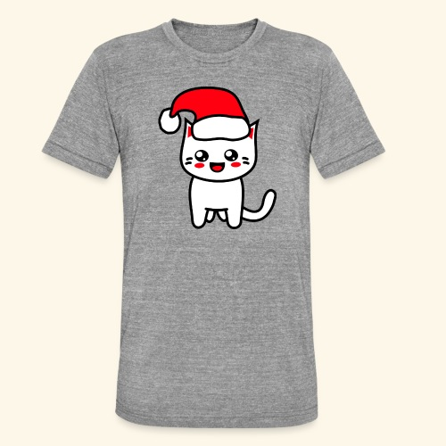 Kawaii Kitteh Christmashat - Unisex Tri-Blend T-Shirt von Bella + Canvas