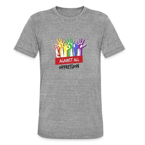 Against All Oppression - Unisex tri-blend T-shirt van Bella + Canvas