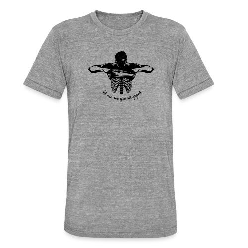 DM stripped - Unisex Tri-Blend T-Shirt von Bella + Canvas