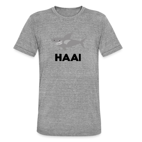 haai hallo hoi - Unisex tri-blend T-shirt van Bella + Canvas