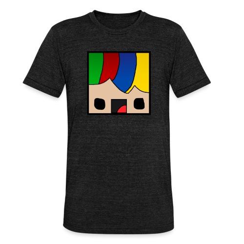 ProfSaurusCartoon - Unisex Tri-Blend T-Shirt von Bella + Canvas