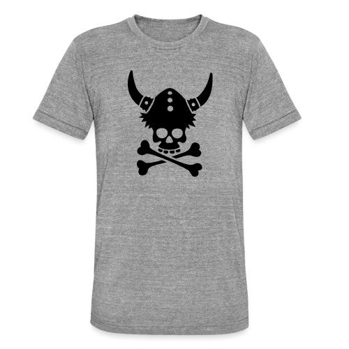 Totenkopf mit Wikingerhelm - Unisex Tri-Blend T-Shirt von Bella + Canvas