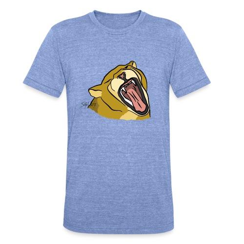 Gähnender / brüllender Löwe - Unisex Tri-Blend T-Shirt von Bella + Canvas