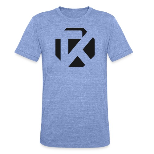 Logo TK Noir - T-shirt chiné Bella + Canvas Unisexe