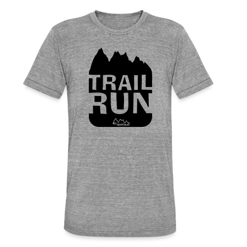 Trail Run - Unisex Tri-Blend T-Shirt von Bella + Canvas