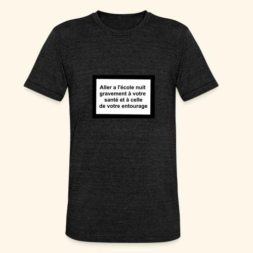 L'école tue - T-shirt chiné Bella + Canvas Unisexe