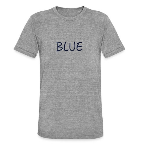 BLUE - Unisex tri-blend T-shirt van Bella + Canvas