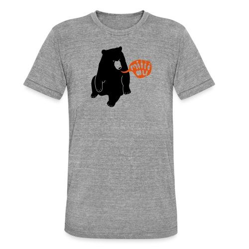 Bär sagt Miau - Unisex Tri-Blend T-Shirt von Bella + Canvas
