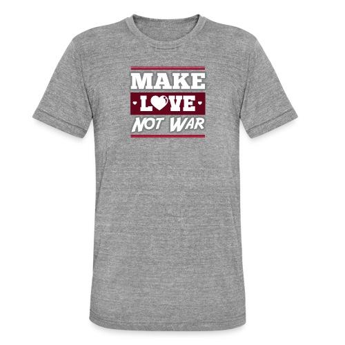 Make_love_not_war by Lattapon - Unisex tri-blend T-shirt fra Bella + Canvas