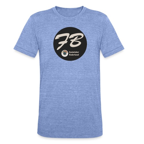 TSHIRT-INSTATUBER-NEDERLAND - Unisex tri-blend T-shirt van Bella + Canvas