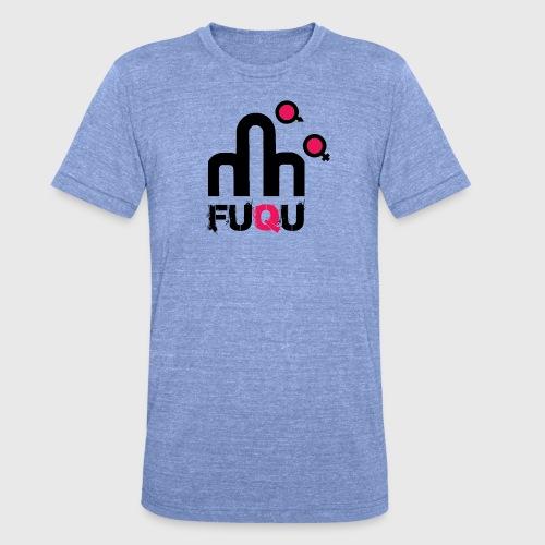 T-shirt FUQU logo colore nero - Maglietta unisex tri-blend di Bella + Canvas