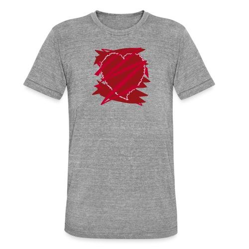 corazón enamorado, corazón roto - Camiseta Tri-Blend unisex de Bella + Canvas