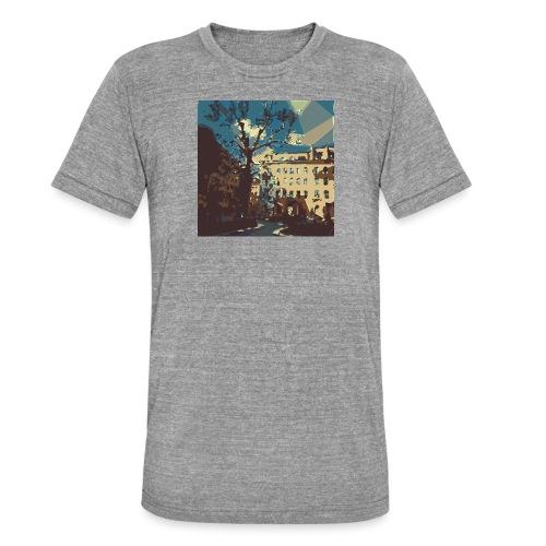 Abstrakt Budapest - Unisex Tri-Blend T-Shirt von Bella + Canvas