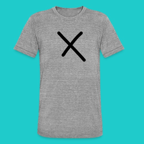 X - Unisex Tri-Blend T-Shirt von Bella + Canvas