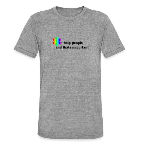 i help people - Unisex tri-blend T-shirt van Bella + Canvas