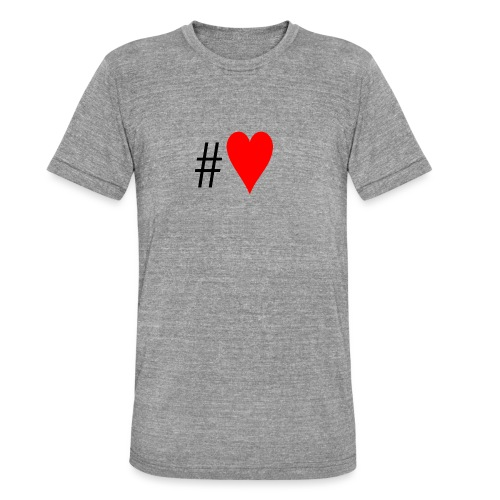 Hashtag Heart - Unisex Tri-Blend T-Shirt by Bella & Canvas