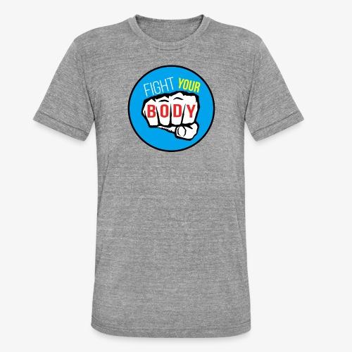 logo fyb bleu ciel - T-shirt chiné Bella + Canvas Unisexe