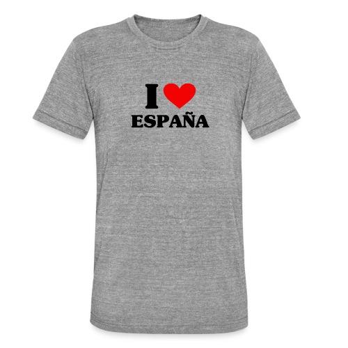 I love Espana - Unisex Tri-Blend T-Shirt von Bella + Canvas