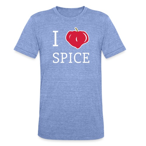 i_love_spice-eps - Bella + Canvasin unisex Tri-Blend t-paita.