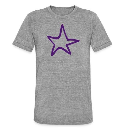 Star Outline Pixellamb - Unisex Tri-Blend T-Shirt von Bella + Canvas
