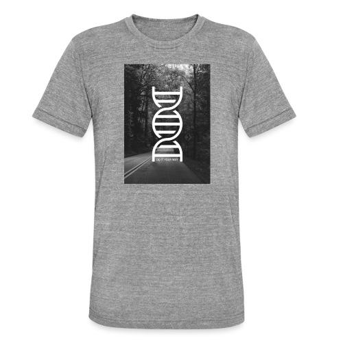 Fotoprint DNA Straße - Unisex Tri-Blend T-Shirt von Bella + Canvas