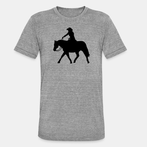 Ranch Riding extendet Trot - Unisex Tri-Blend T-Shirt von Bella + Canvas