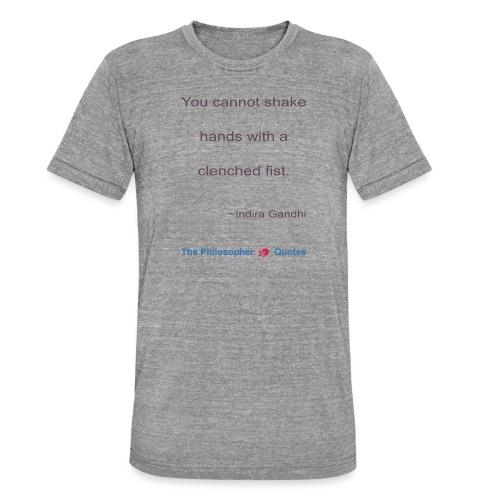 Indira Gandhi Shake hands b - Unisex tri-blend T-shirt van Bella + Canvas