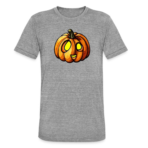 Pumpkin Halloween watercolor scribblesirii - Unisex Tri-Blend T-Shirt by Bella & Canvas