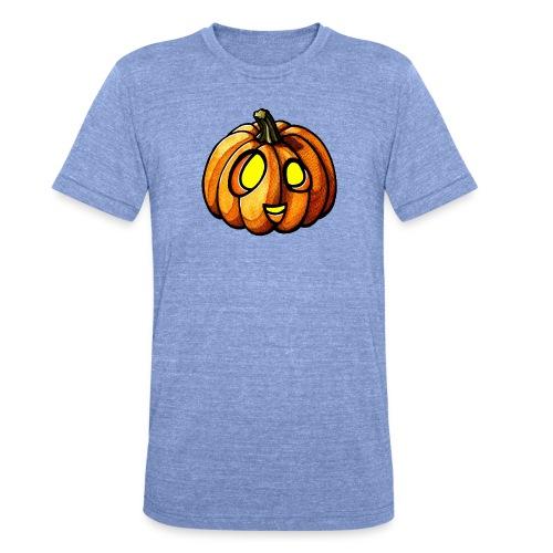 Pumpkin Halloween watercolor scribblesirii - Unisex tri-blend T-shirt fra Bella + Canvas