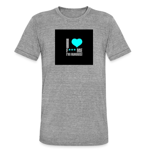 I Love FMIF Badge - T-shirt chiné Bella + Canvas Unisexe