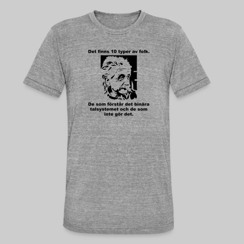 Det finns 10 Typer - Triblend-T-shirt unisex från Bella + Canvas