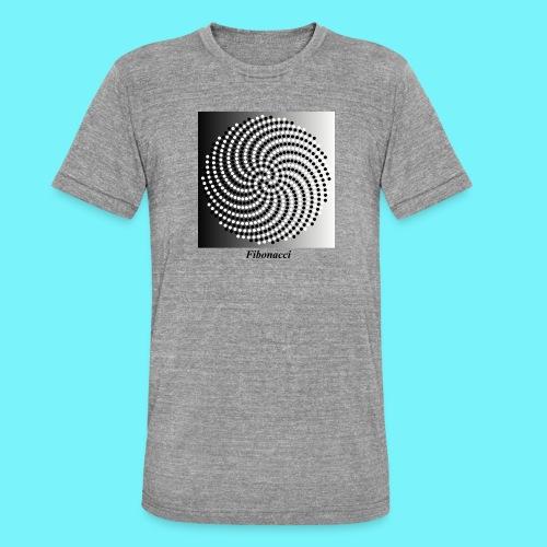 Fibonacci spiral pattern in black and white - Unisex Tri-Blend T-Shirt by Bella & Canvas