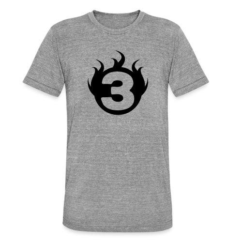 shoulder logoc - T-shirt chiné Bella + Canvas Unisexe