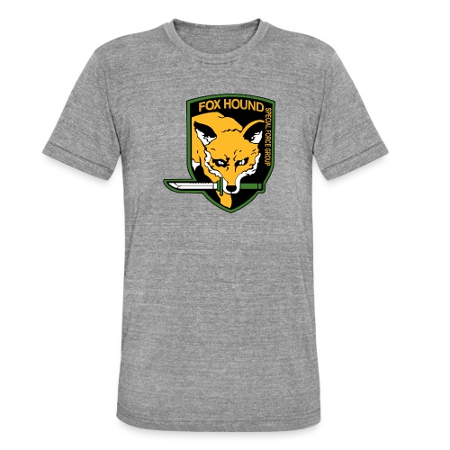 Fox Hound Special Forces - Bella + Canvasin unisex Tri-Blend t-paita.