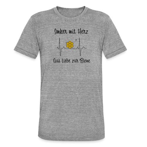 Imker mit Herz Aus Liebe zur Biene - Unisex Tri-Blend T-Shirt von Bella + Canvas
