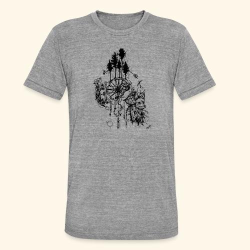 renard nature - T-shirt chiné Bella + Canvas Unisexe