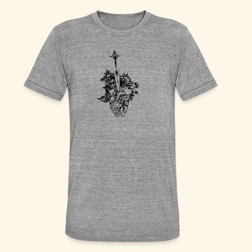 la nature du coeur - T-shirt chiné Bella + Canvas Unisexe