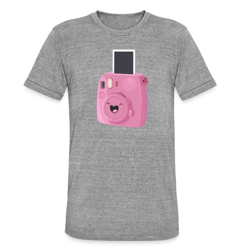 Appareil photo instantané rose - T-shirt chiné Bella + Canvas Unisexe