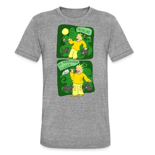 Katzenhaare - Unisex Tri-Blend T-Shirt von Bella + Canvas